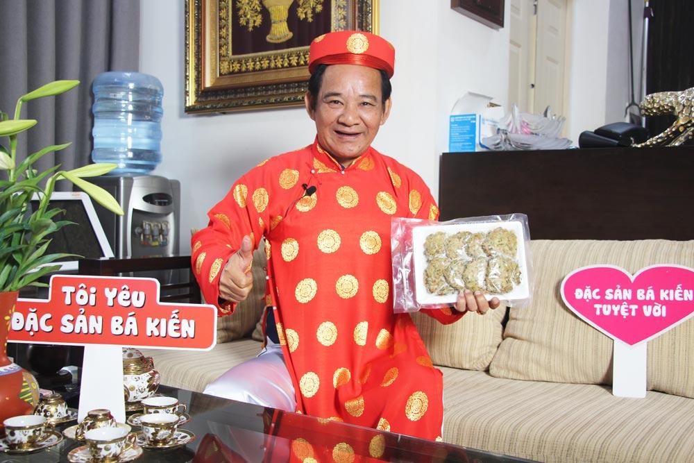 Quang Tèo yêu thích chả rươi Bá Kiến
